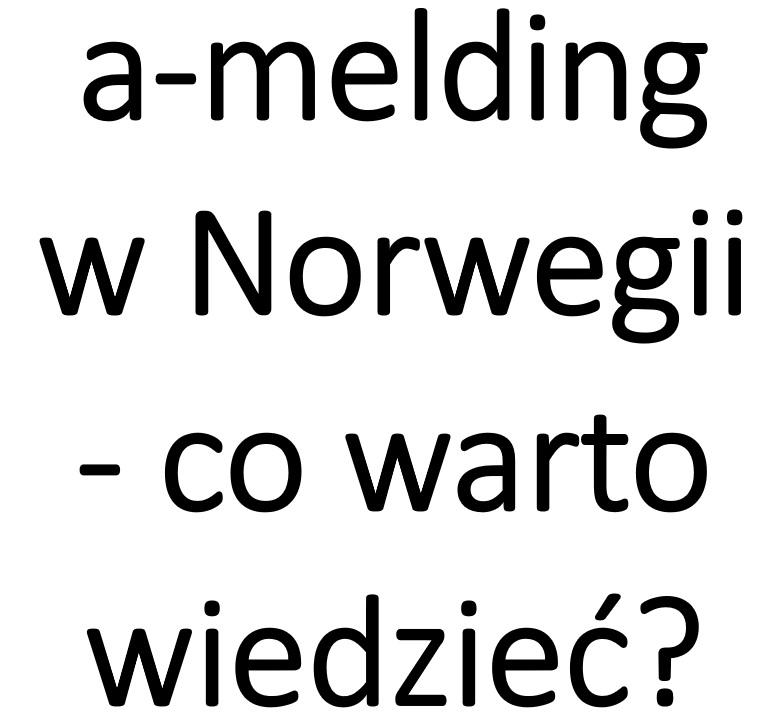 a-melding Norwegia