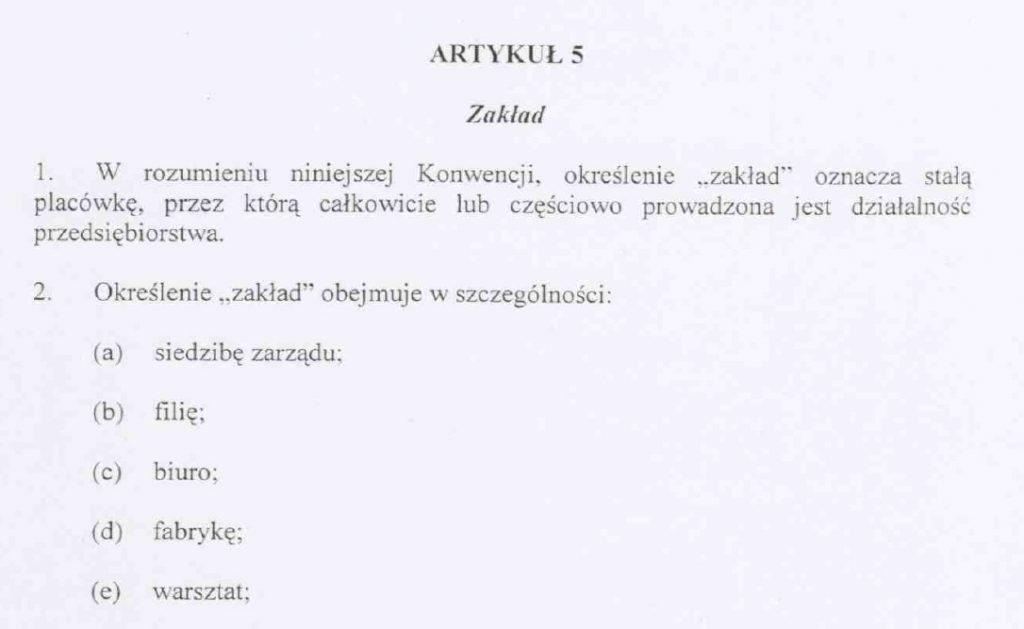 Konwencja podatkowa Polska Norwegia