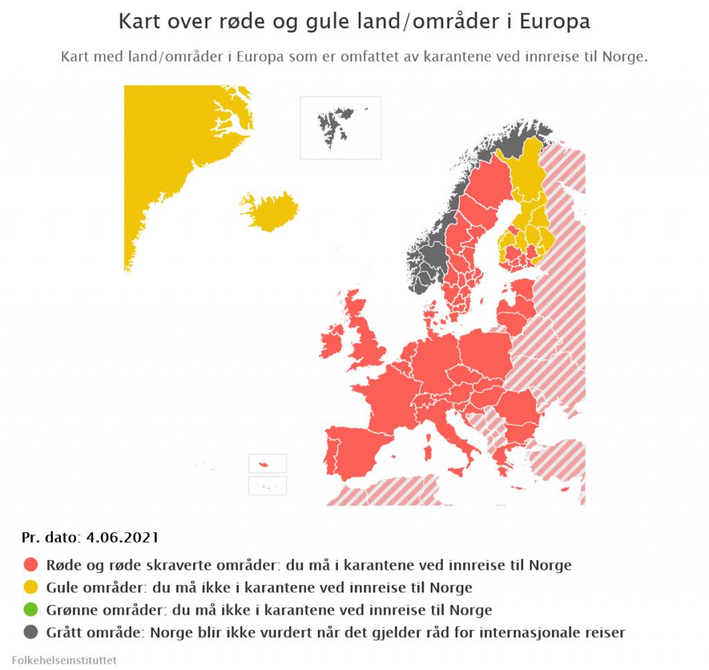 Kwarantanna w Norwegii, 04.06.2021